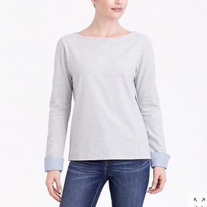 J Crew Cuffed Boatneck Sweater